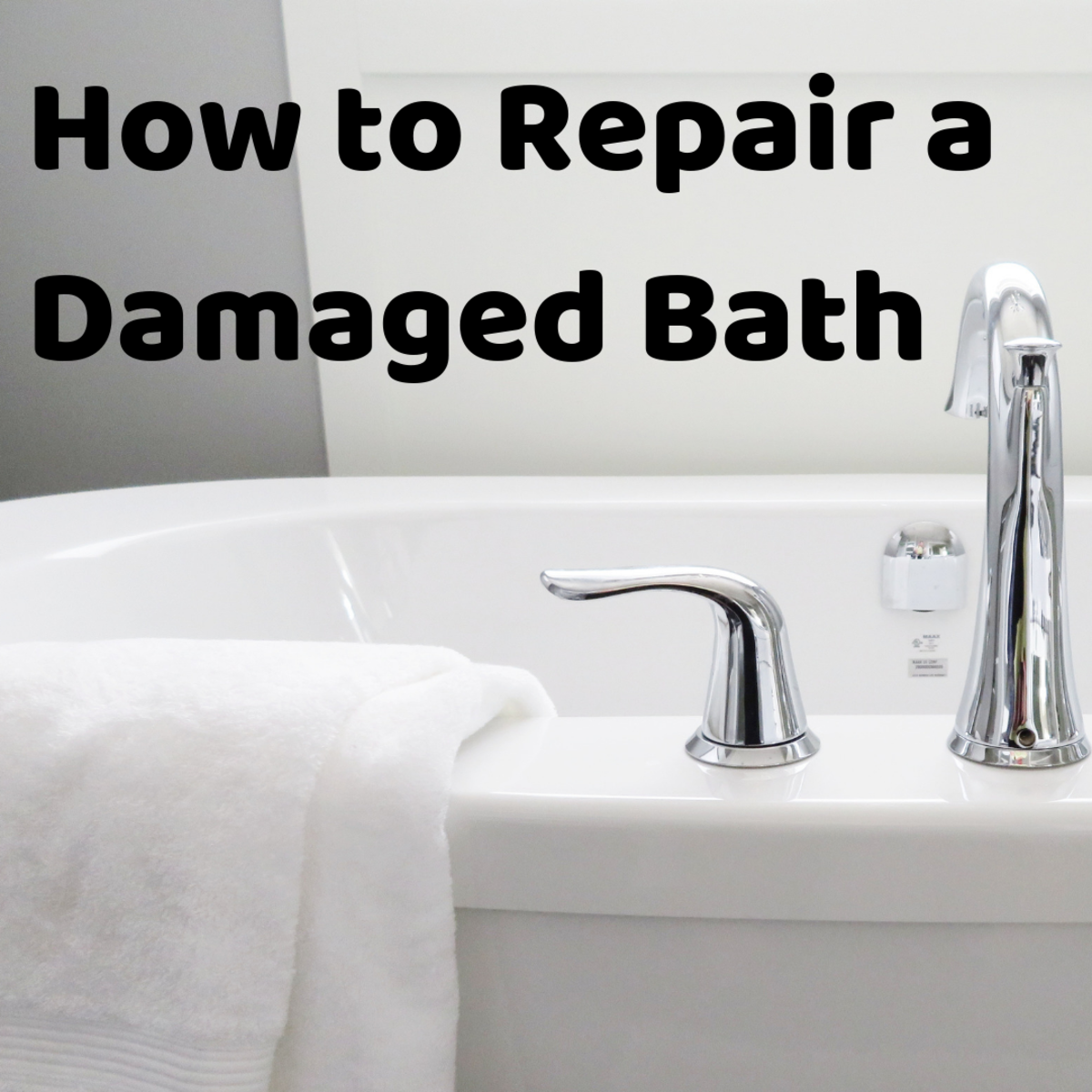 How to Repair a Scratched Steel Bath