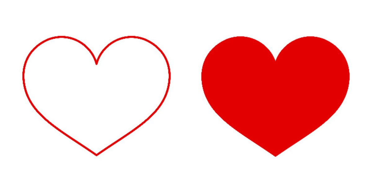Create a Heart Brush in GIMP Using Paths Tool