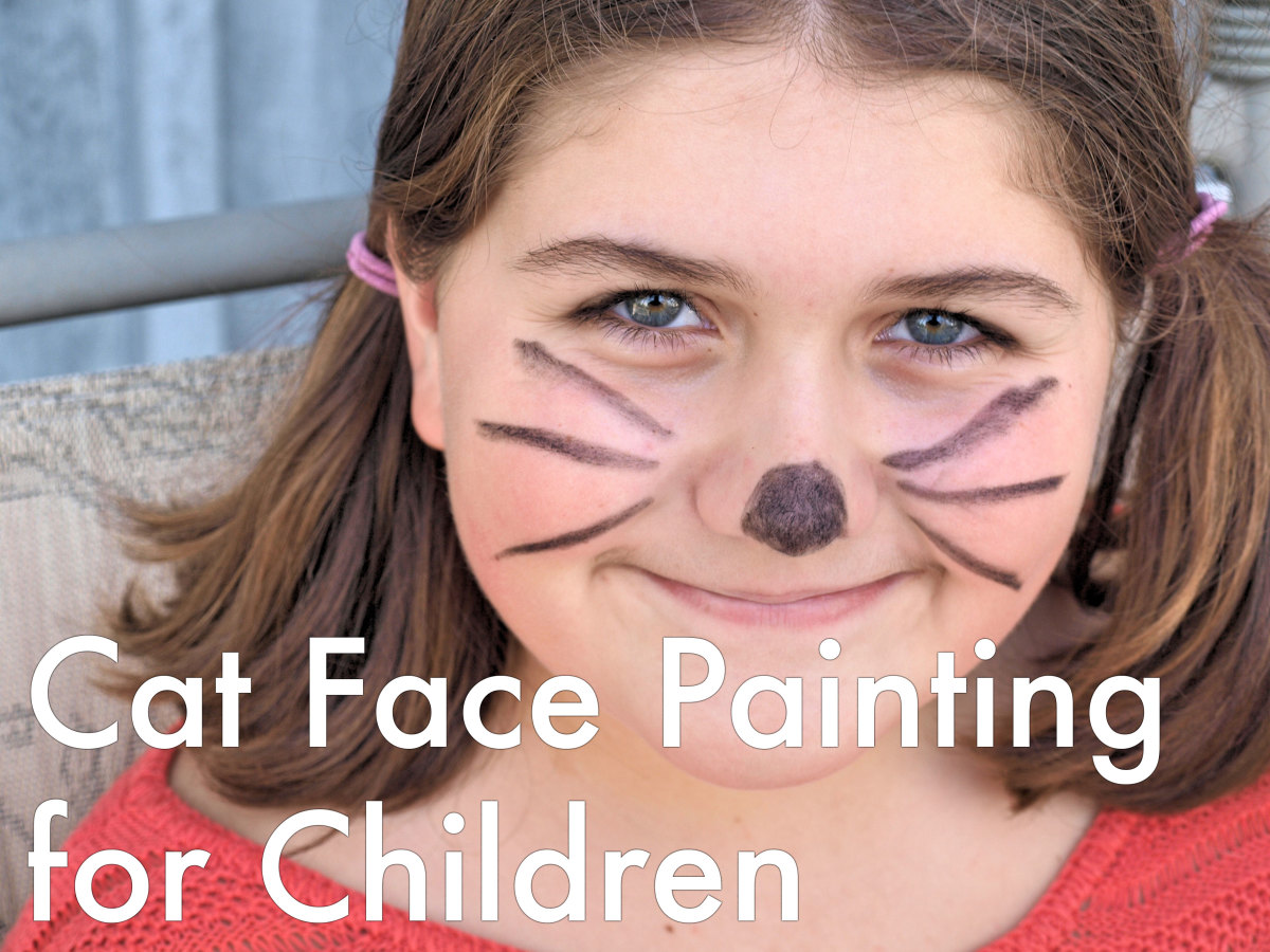 Tips and tutorials for cat face painting for children.