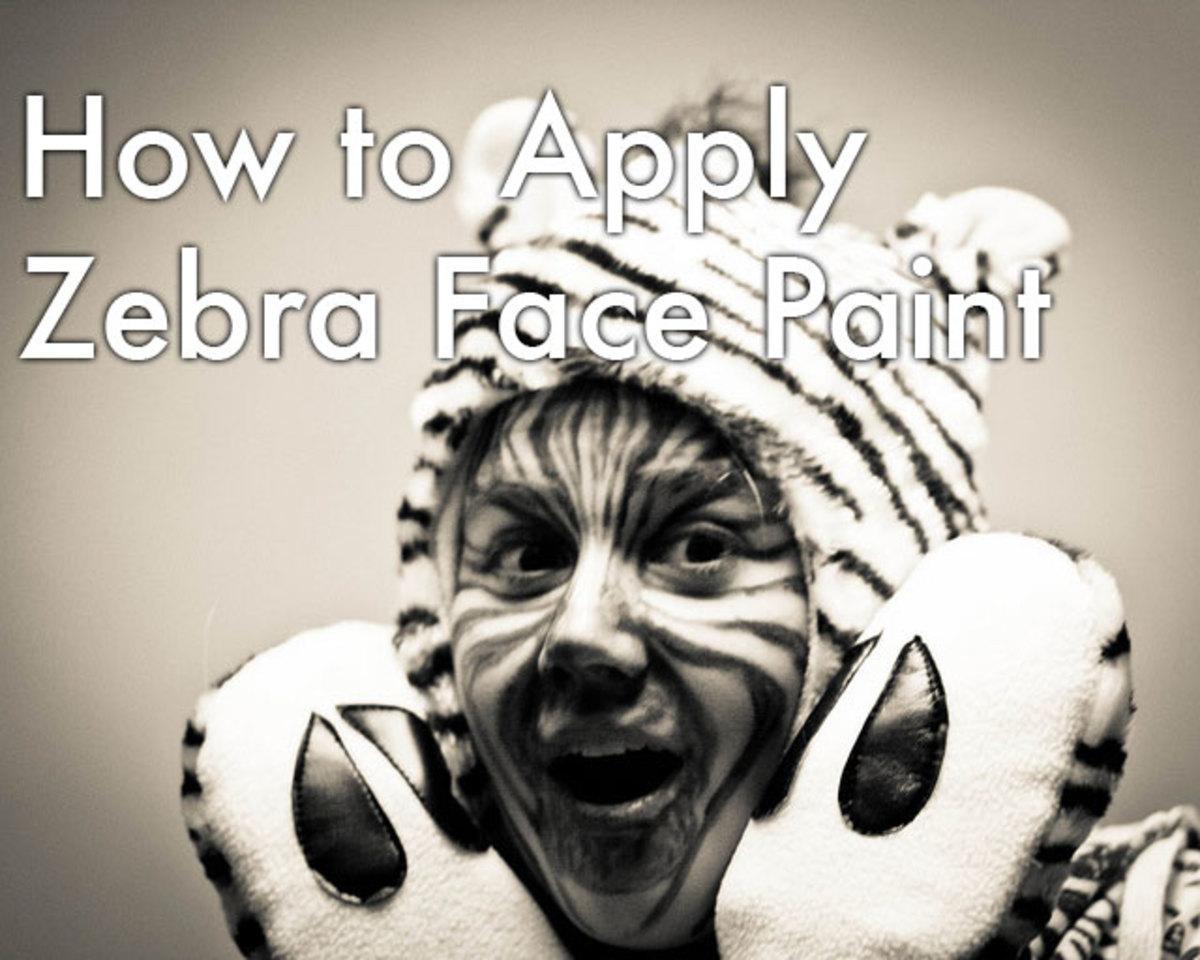 Zebra Halloween Makeup Tips and Tutorials