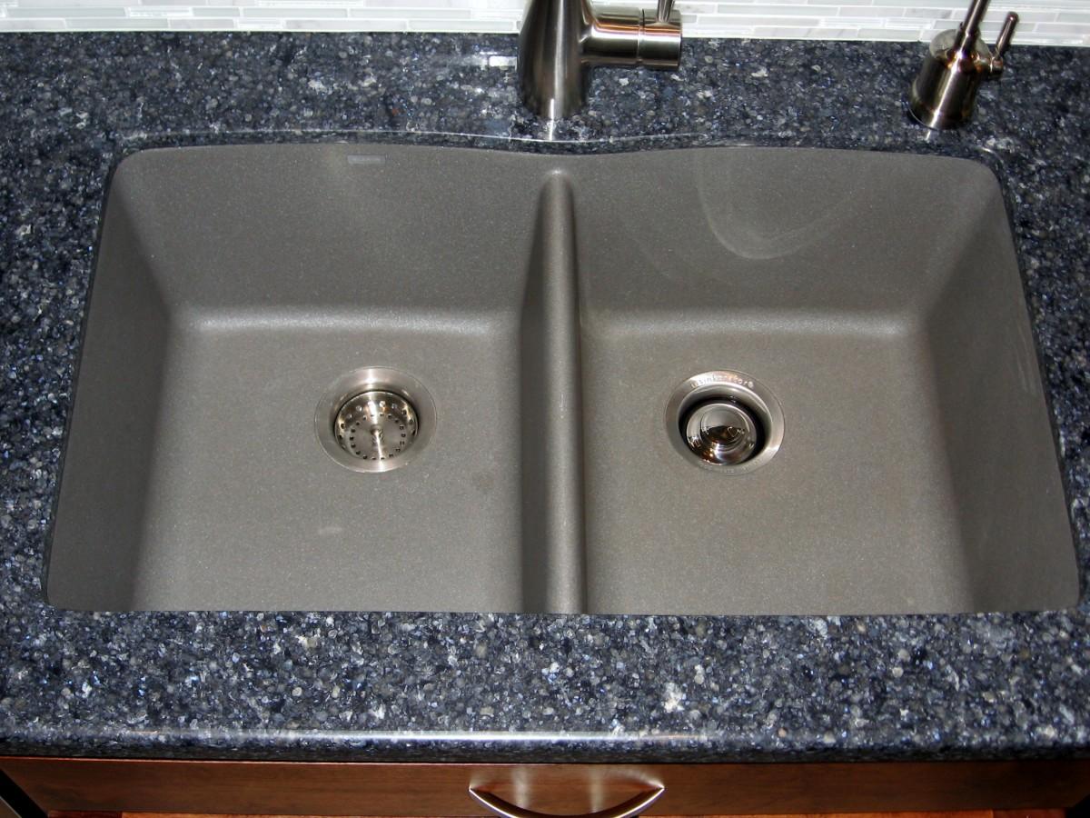 Blanco   Granite Bar Kitchen Sink Metallic Gray