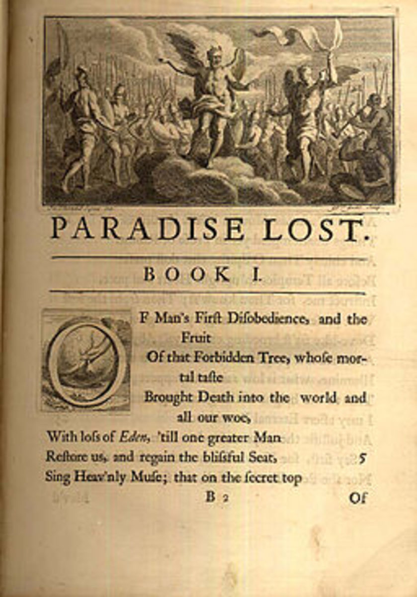 Opening page of a 1720 illustrated edition of Paradise Lost by John Milton.