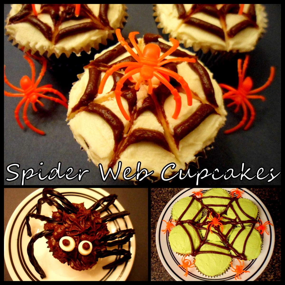 How to Make Spider Web Cupcakes: 3 Different Designs
