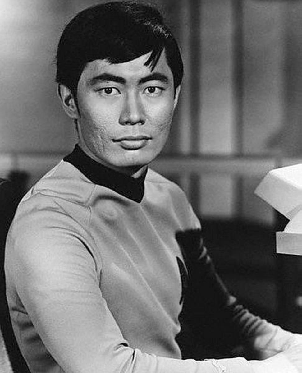 George Takei as Star Trek's Hikaru Sulu.