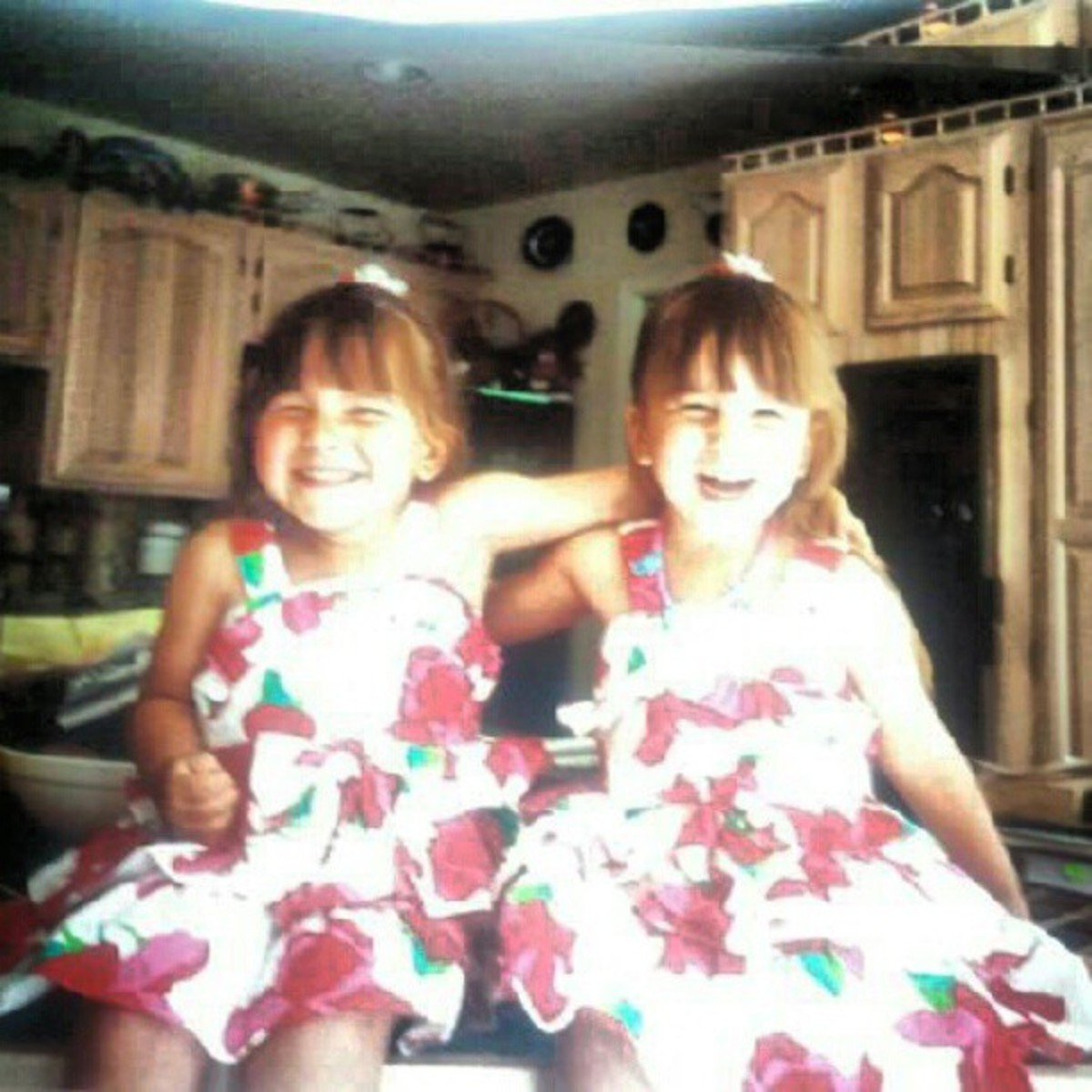 Happy twins! (Me on the left, my sister on the right)