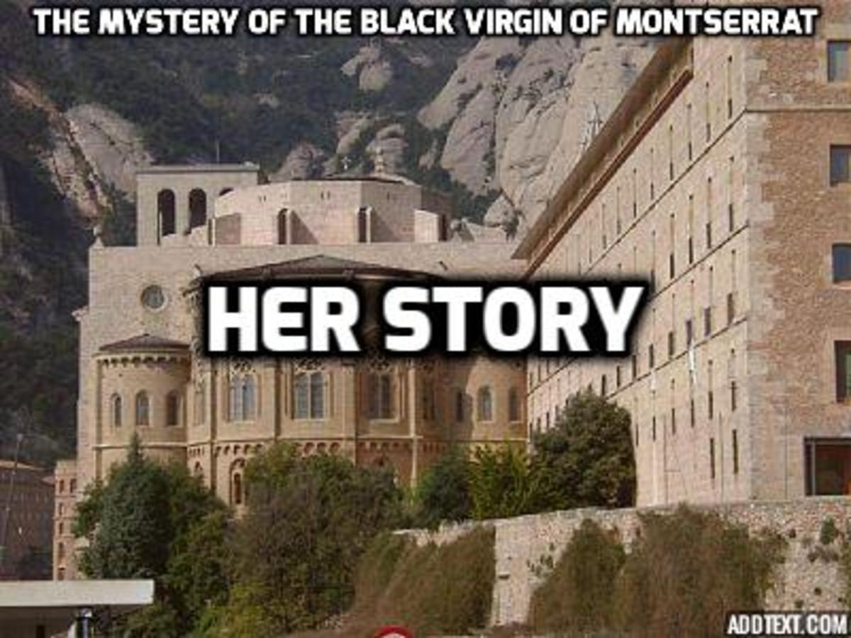 The Shrine of the Black Madonna in Montserrat, Catalonia, Spain