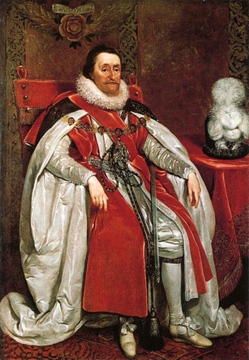 James I  Portrait by Daniel Mytens, 1621