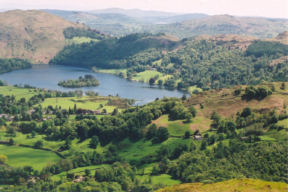 Grasmere, from Helm Crag, Southern Lakes, Cumbria
