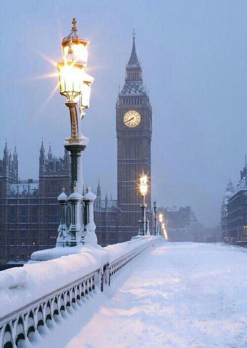 Snow on Westminster Bridge