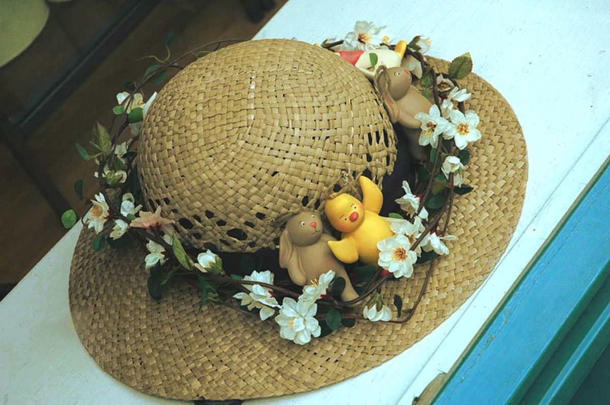 A simple Easter Bonnet. Let your imagination run wild and then enter your creation in an Easter Bonnet parade.