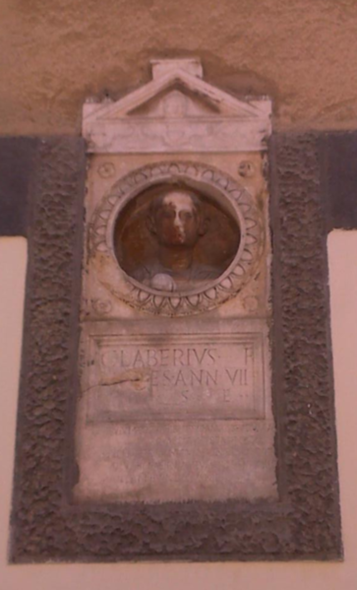 The Roman tombstone of Gaius Laberius was uncovered in the ancient military camp of Tilurium (modern day Trilj, Croatia).  It depicts a boy holding a Harpastum ball, which looks like a contemporary American soccer ball.