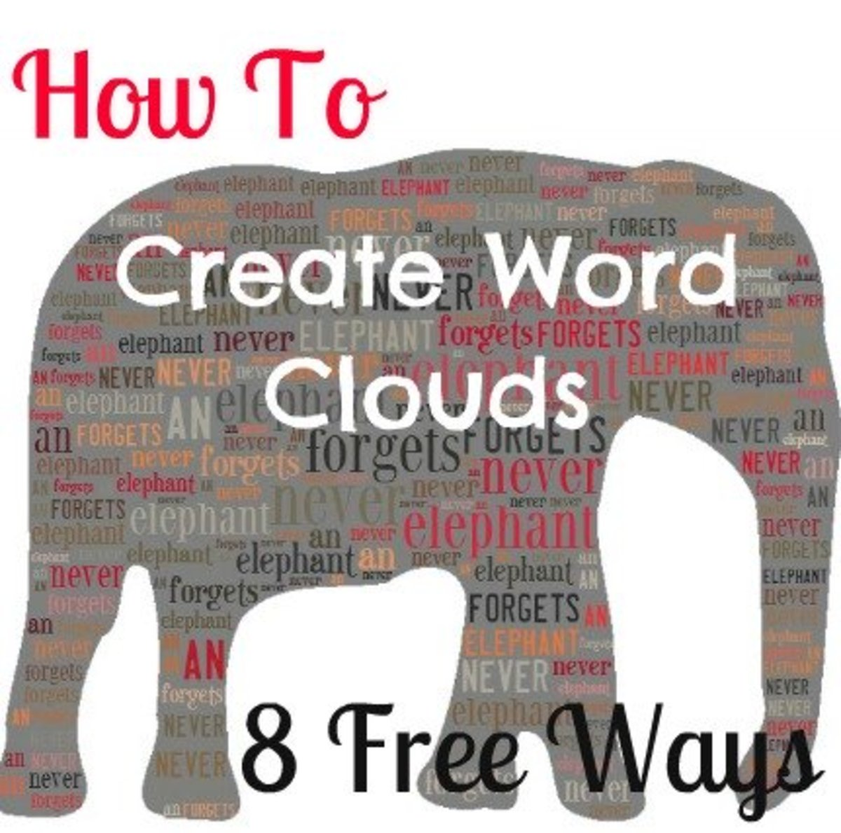 How to create word clouds online for free!