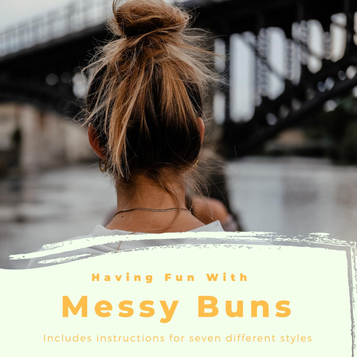 messy top bun