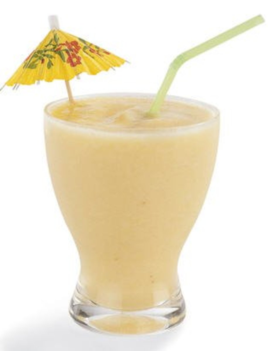 Kid-Friendly Pina Colada Ice Cream Smoothie