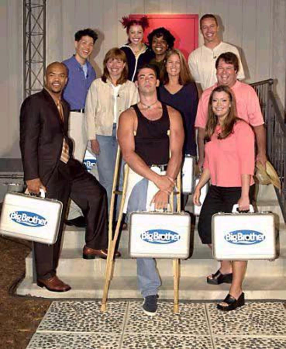 The 10 house guests of Big Brother US Season 1, before entering the Big Brother House.