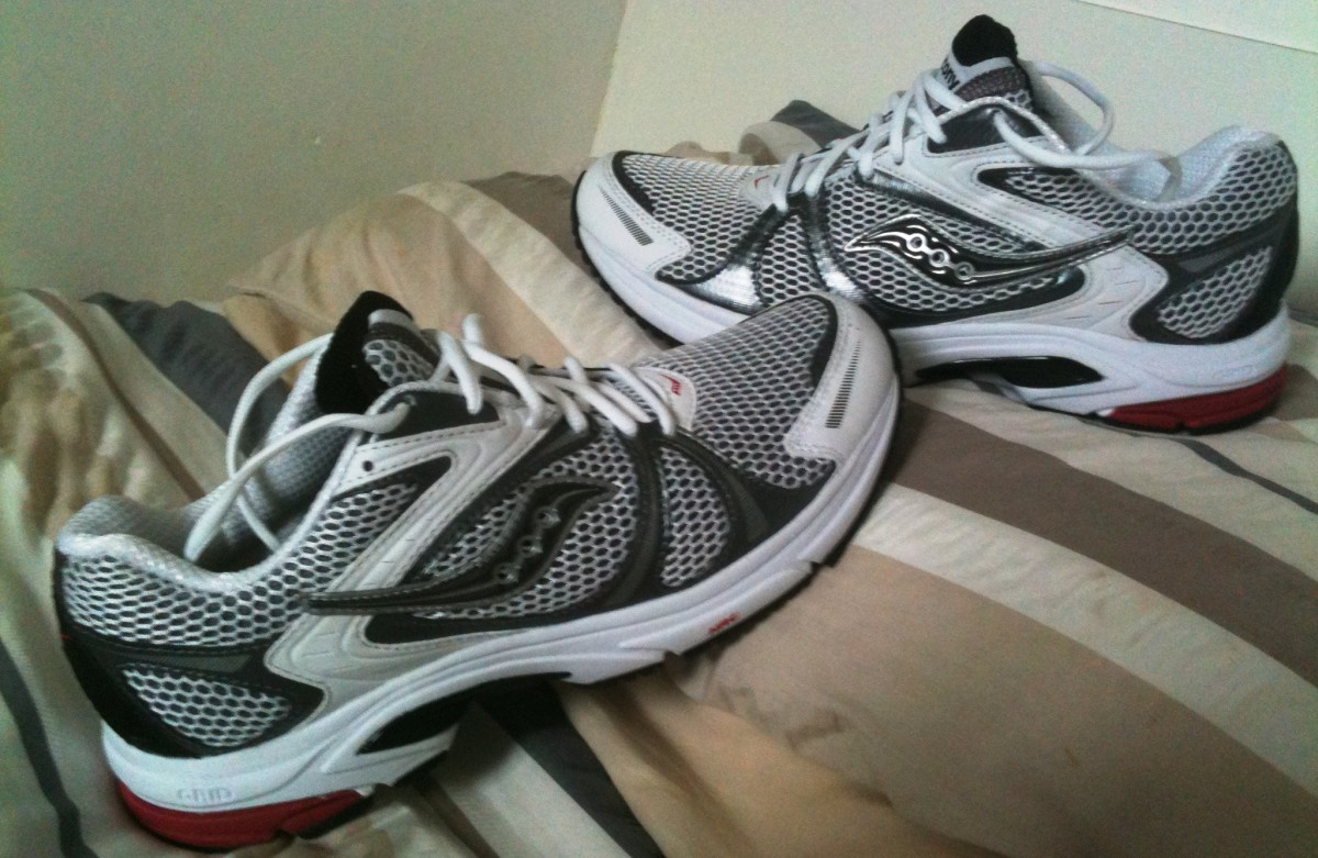 Before you start a marathon training program make sure you have the right running shoes. These Saucony Jazz running shoes could provide support for longer runs but always try before you buy