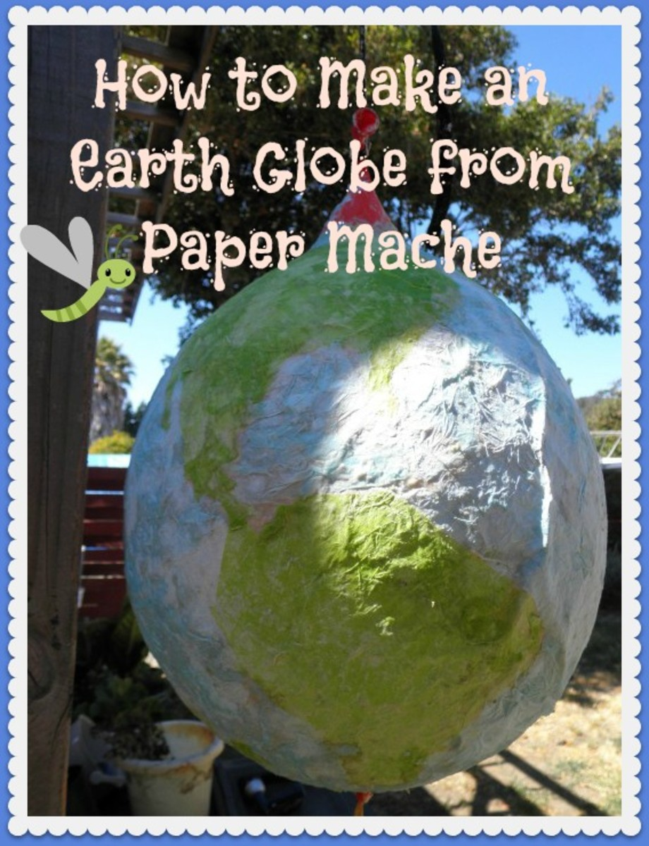 Step by step instructions on how to make an earth globe from paper mache. Makes a great kids craft and an awesome craft for Earth Day.