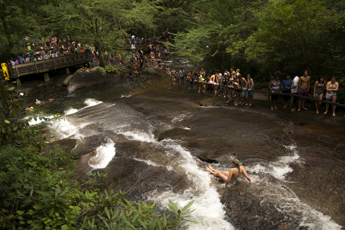 Sliding Rock in Pisgah National Forest, NC: Directions and Guide