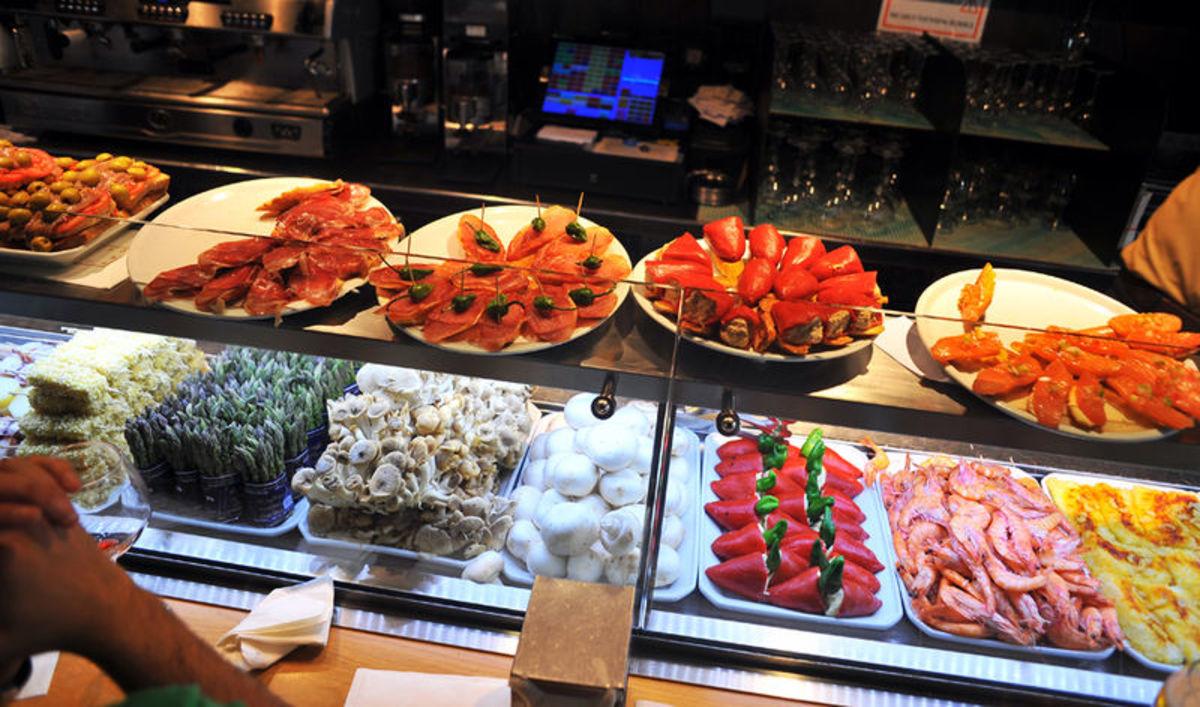 Tapas bar in Barcelona.