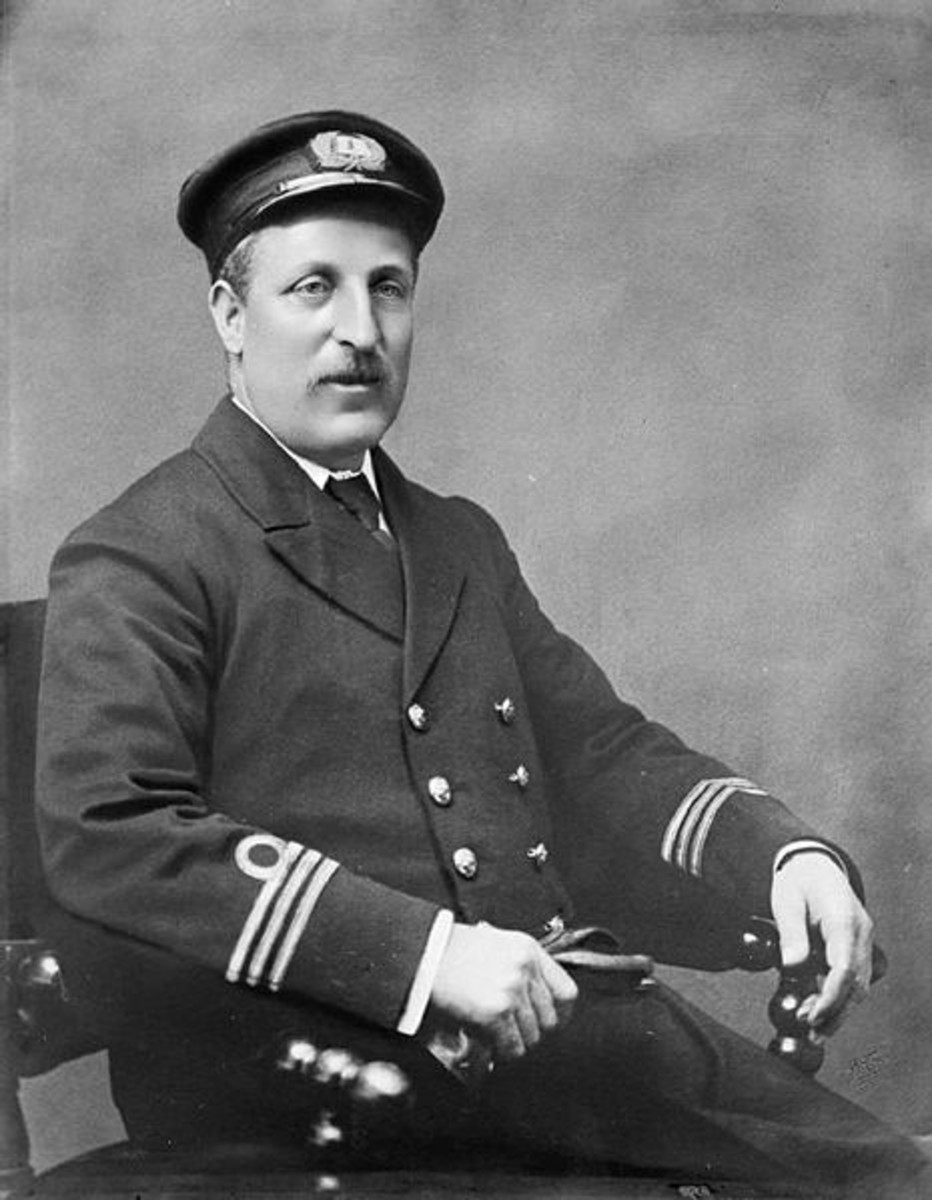 World War I: Captain Charles Fryatt, Captain of the SS BRUSSELS.