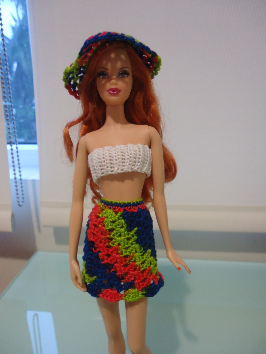 This picture has Barbie wearing my favorite hat to crochet. Unfortunately, this is not my pattern, so I cannot share it.