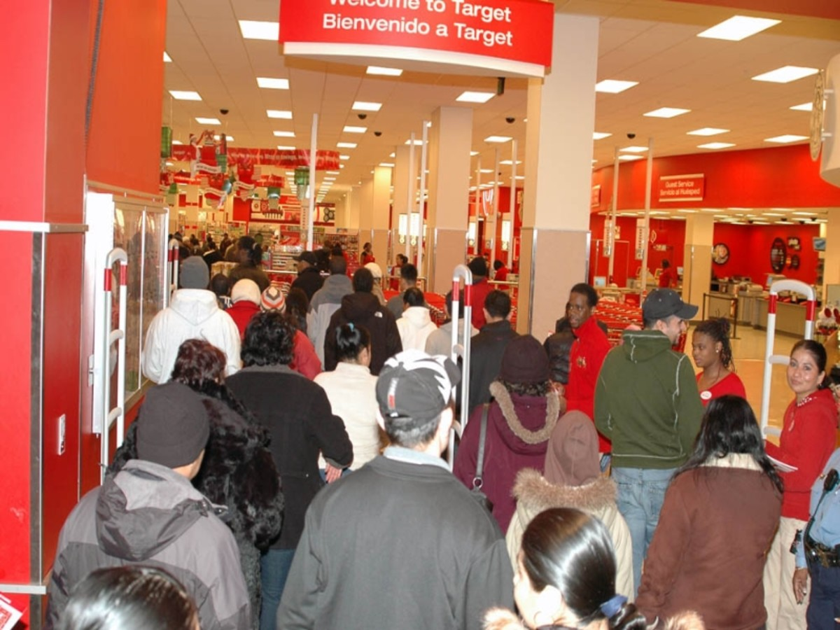 Black Friday is beginning, and the crowds are gathering for it.