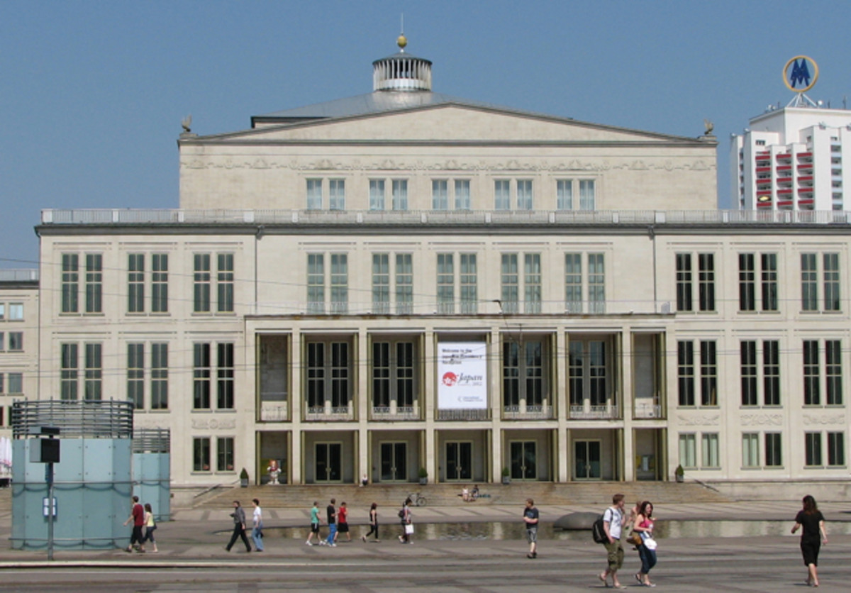 Leipzig Opera House, on Augustusplatz, Leipzig, Germany.