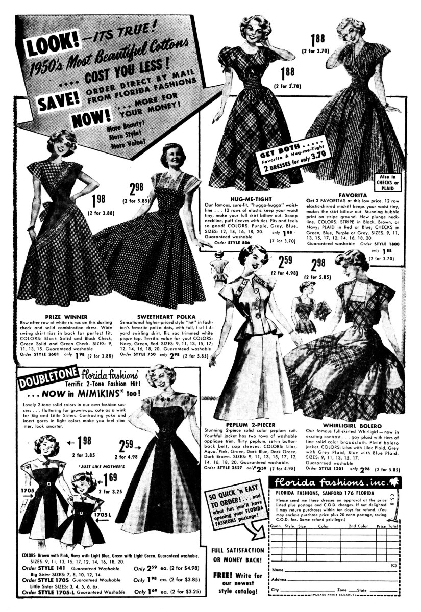 Fashion History - Women's Clothing of the 1950s
