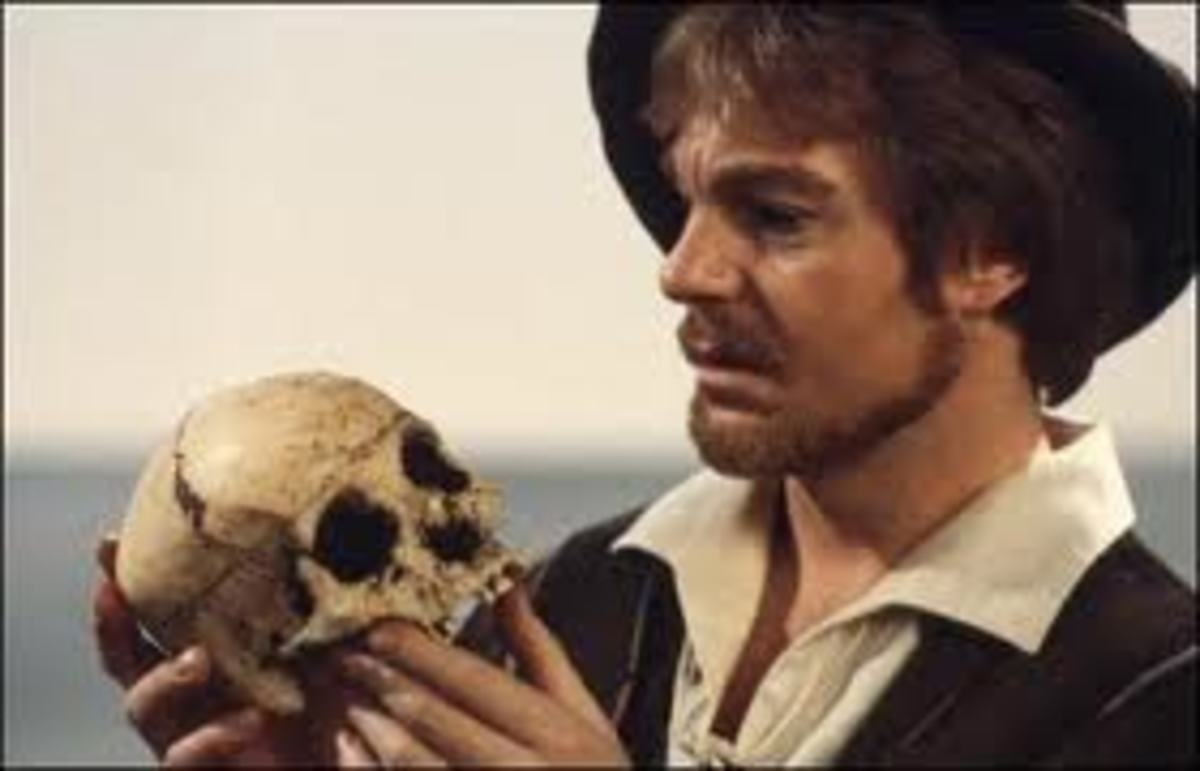 Hamlet doesn't study any skulls during his famous soliloquy but both incidents in the play highlight Hamlet's concern with death.