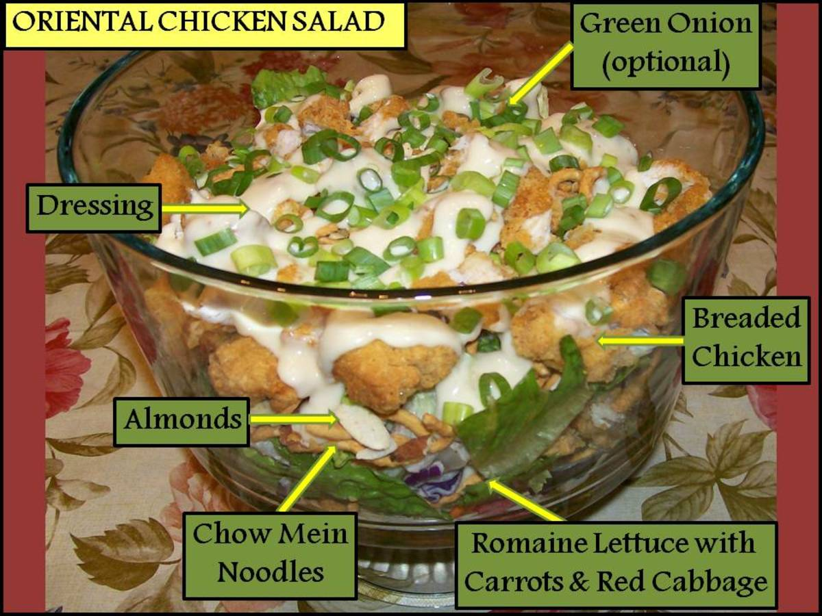Applebee's Oriental Chicken Salad & Dressing Recipe