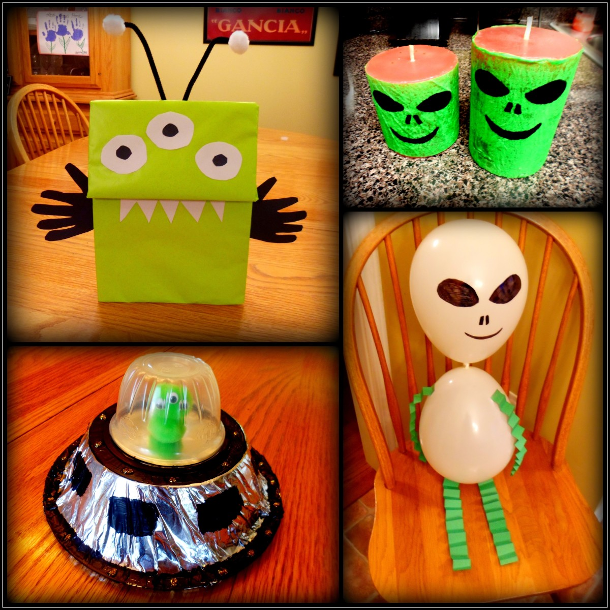 Fun and easy alien crafts for kids to make.