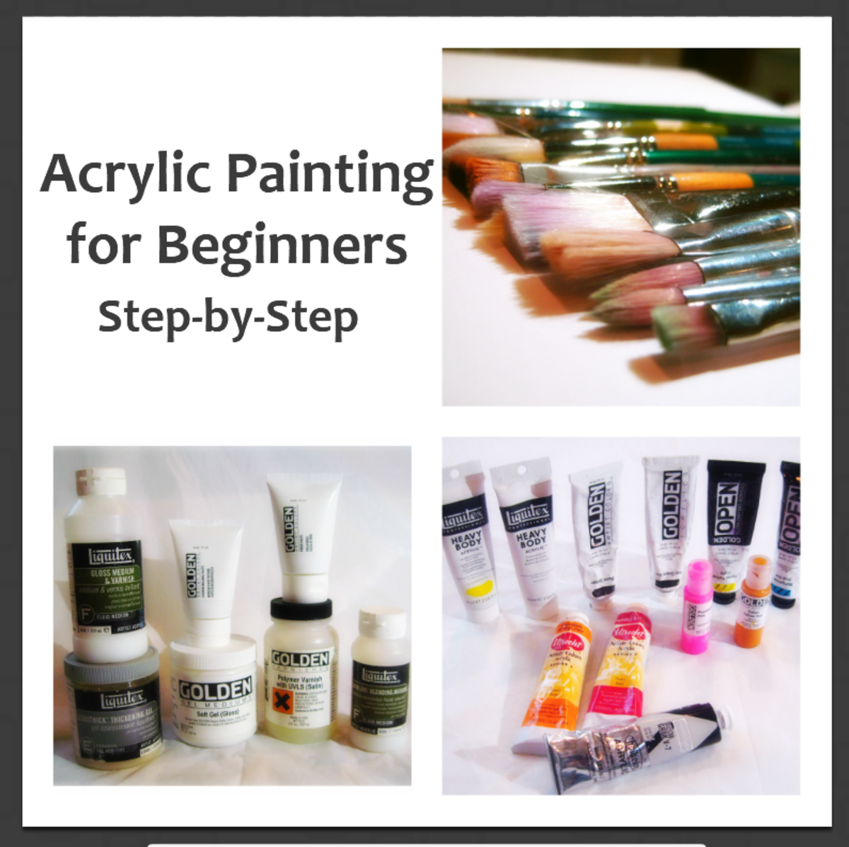 Step-by-Step Acrylic Painting for Beginners | FeltMagnet
