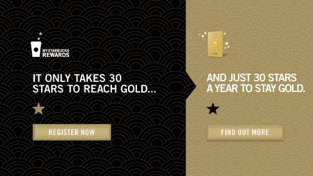 Starbucks Gold rewards program