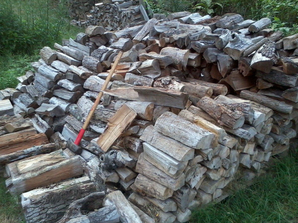 How to Chop Firewood Basics, Including Large Tree Trunk Sections