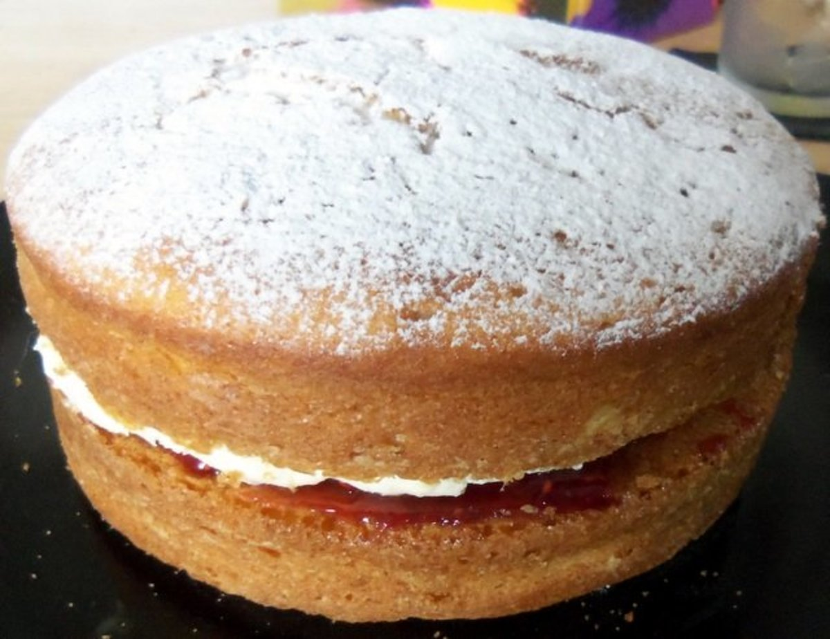 A Victoria Sponge cake is a great treat to have with afternoon tea.