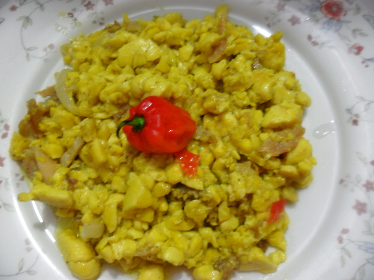 Ackee and saltfish the jamaica national dish for Salt fish ackee