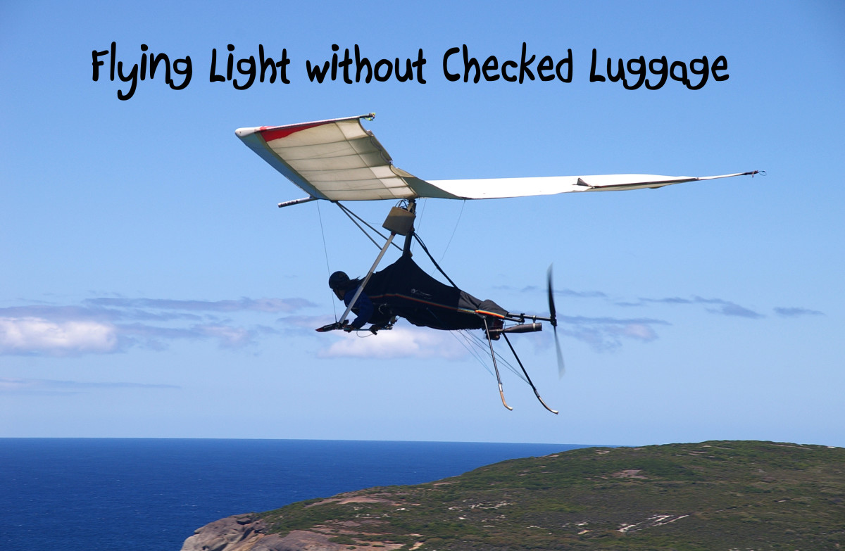 Now that's what I call flying light!