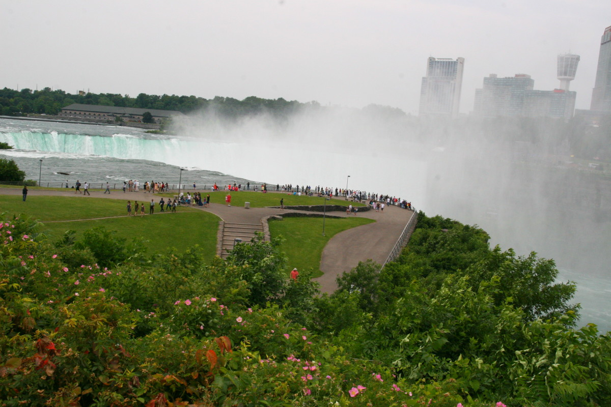 The American side of Niagara Falls is best viewed from Goat Island, part of Niagara Falls State Park.