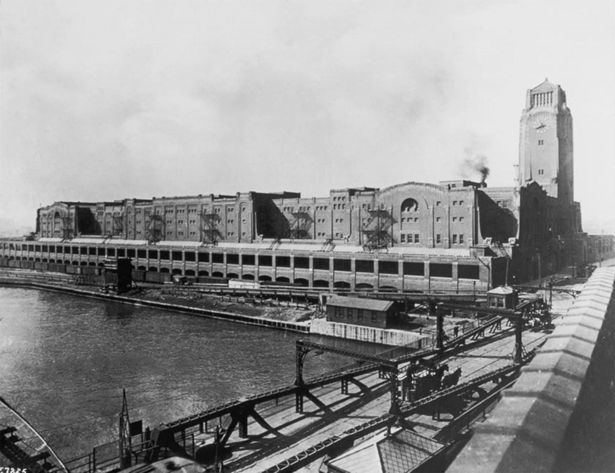 The Pennsylvania Railroad Freight Terminal, circa 1920.