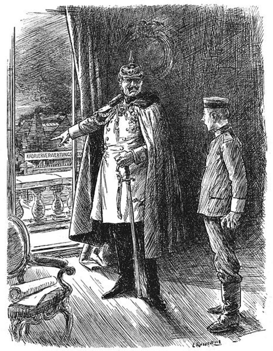 "WW1: Kaiser (to 1917 Recruit). ""And don't forget that your Kaiser will find a use for you-- alive or dead."" Punch, 25 April 1917."