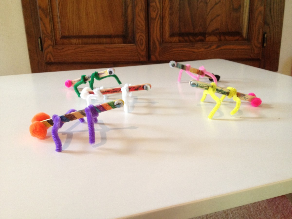 Art Crafts for kids with Popsicle Sticks - How to make Popsicle Stick Bugs!