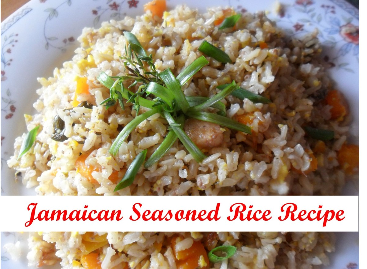 One Pot Meals: Jamaican Seasoned Rice Recipe With Ackee