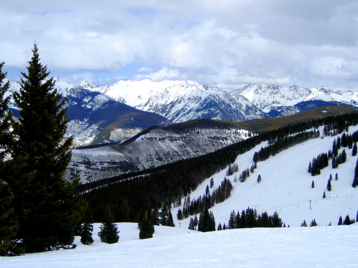 At the top of Game Creek Bowl in Vail, Colorado