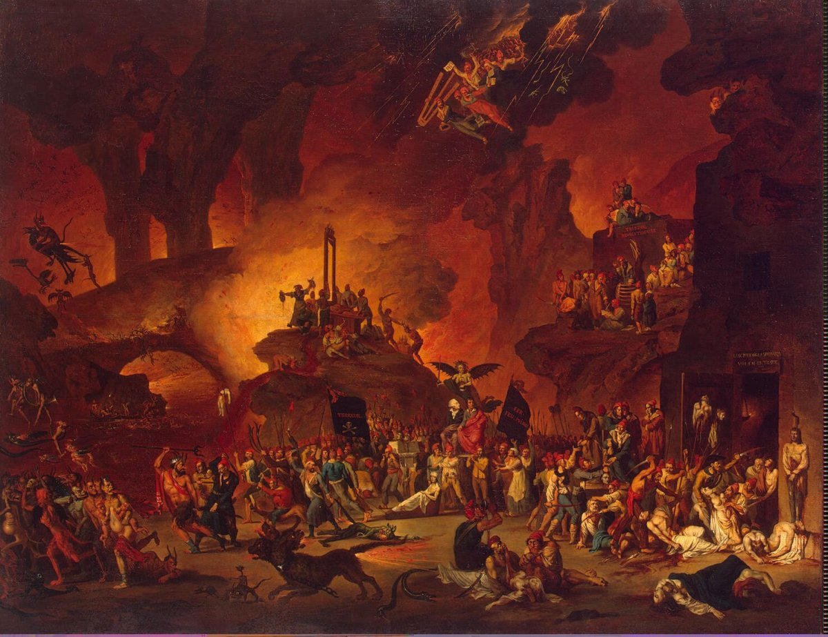 """The Triumph of the Guillotine in Hell"" by Nicolas Antoine Taunay (1795)"
