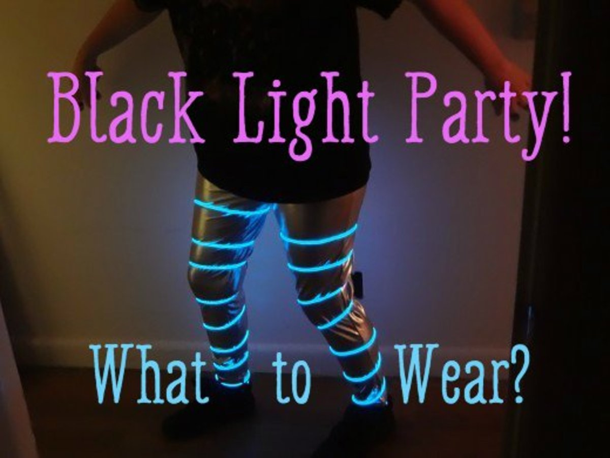 to wear to a black light party clothes and accessories holidappy. Black Bedroom Furniture Sets. Home Design Ideas