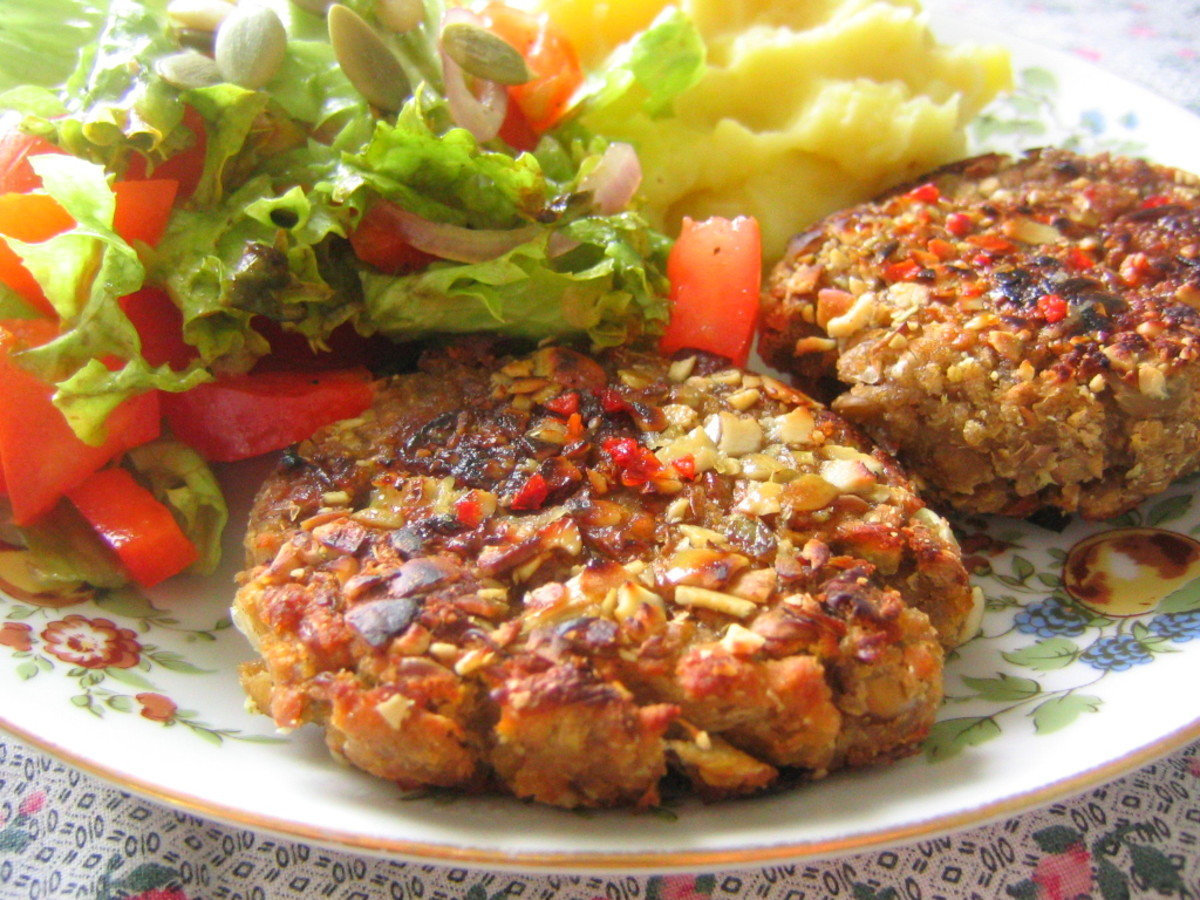 How to Make Burgers With High Fibre Oatmeal and Parsley