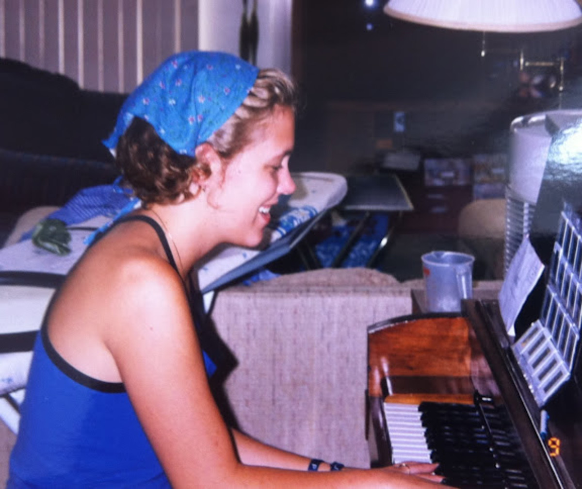 As a teenager, I taught private piano lessons to young children.