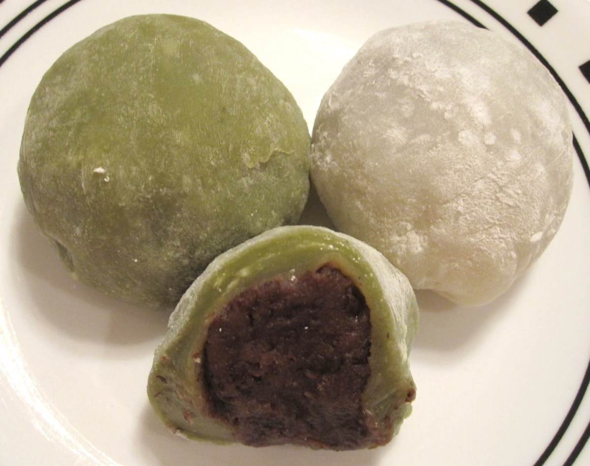 Mochi, Sweet Rice Cakes Filled With Red Bean Paste, A Gluten Free Dessert Recipe
