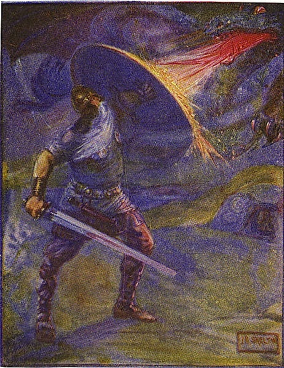 an analysis of the adventure stories and the anglo saxon epic beowulf
