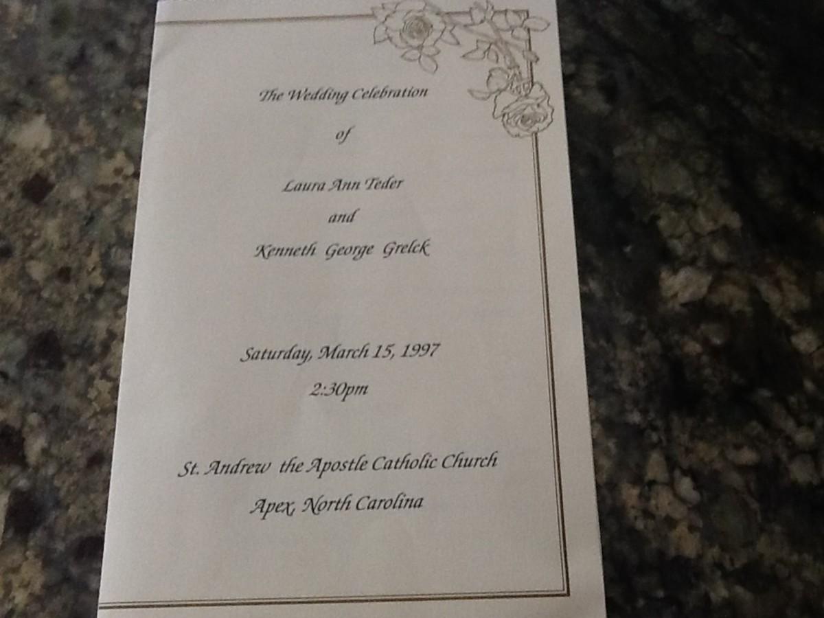 Sample Catholic Wedding Program